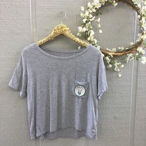 American Eagle Soft & Sexy Graphic crop top. Small
